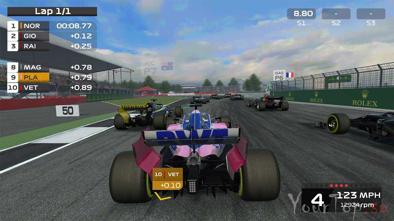 """Гонки на андроид """"F1 Mobile Racing"""""""