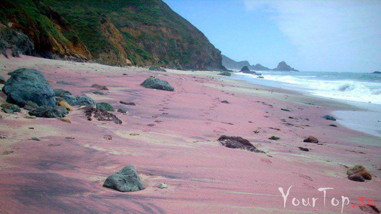 Фиолетовый пляж Пфайфер-Бич, Калифорния